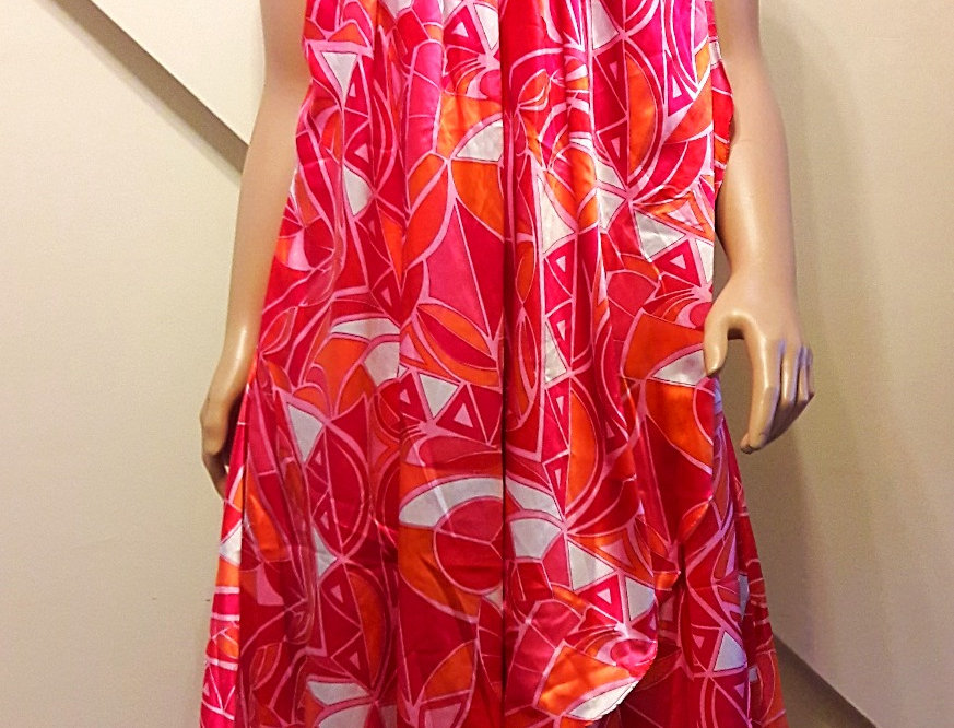 Pink, Orange and White Flowy Sundress