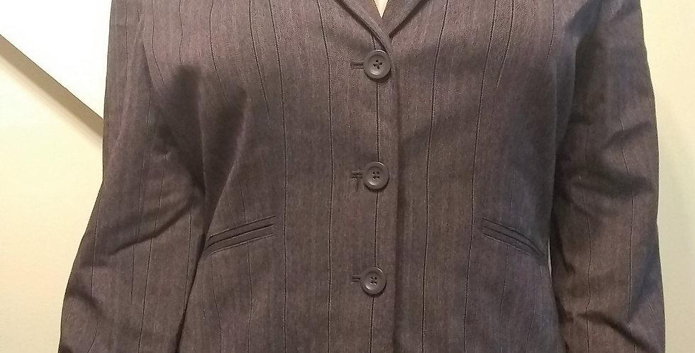 Worthington Works Brown Striped Blazer