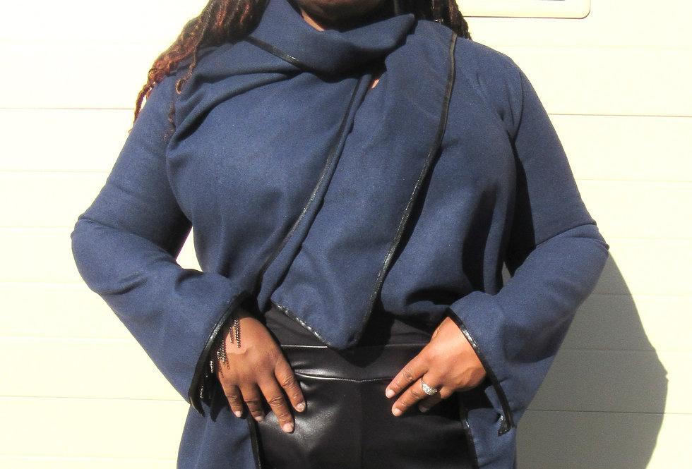 TE Navy Blue Jacket with Black Trim