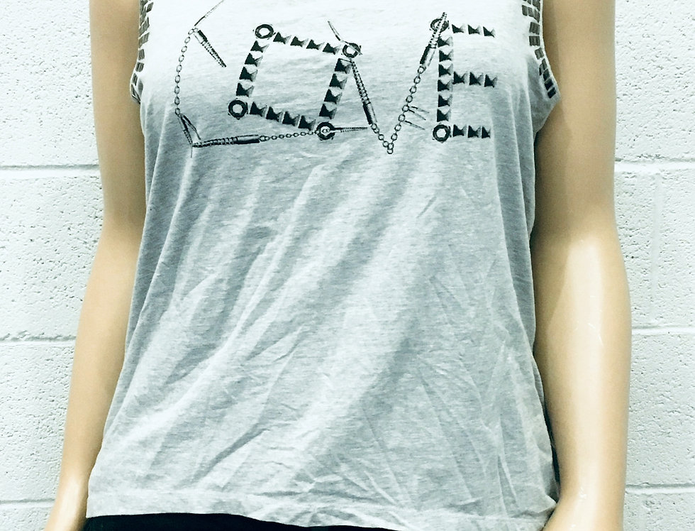 """Lane Bryant Grey""""Love"""" T-shirt"""