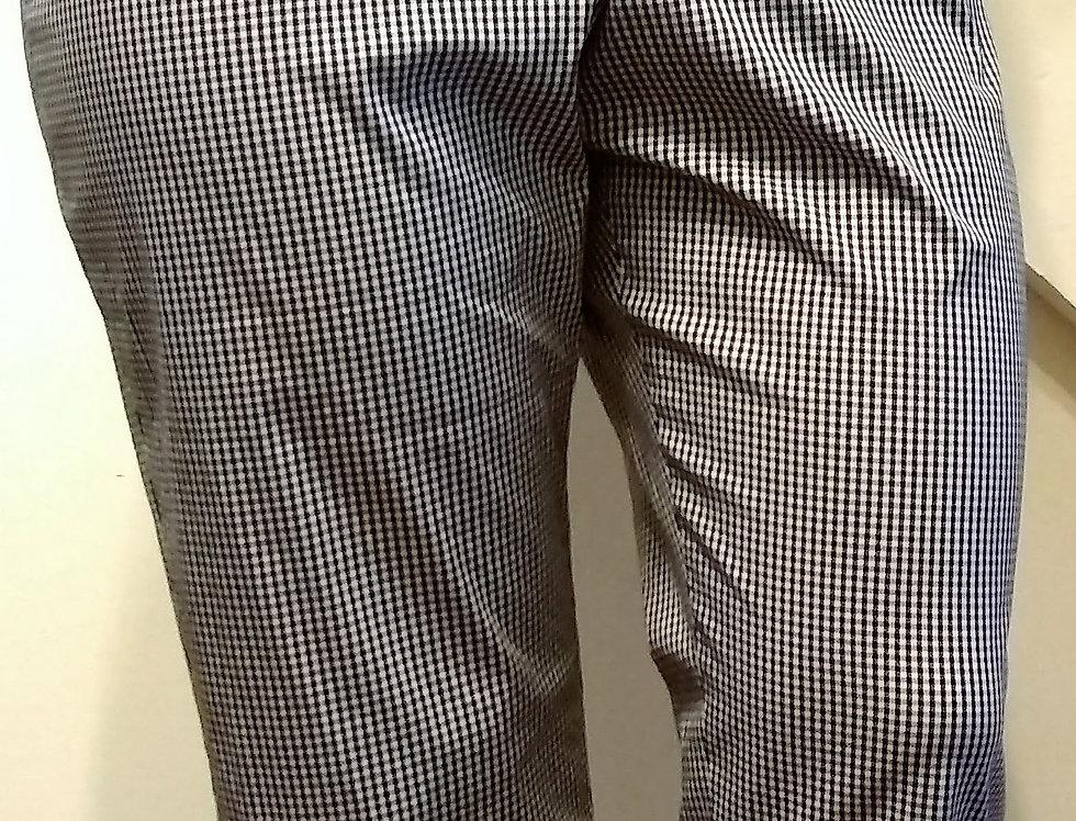 Black Checker Dress Pants