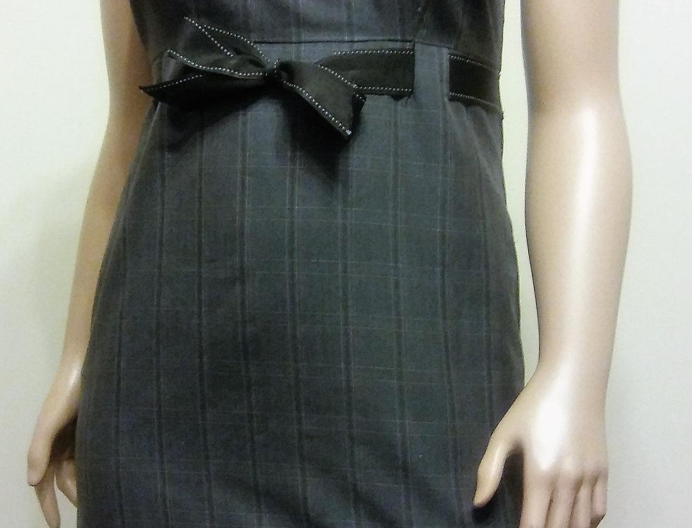 Studio I Gray Dress with Black Satin Belt