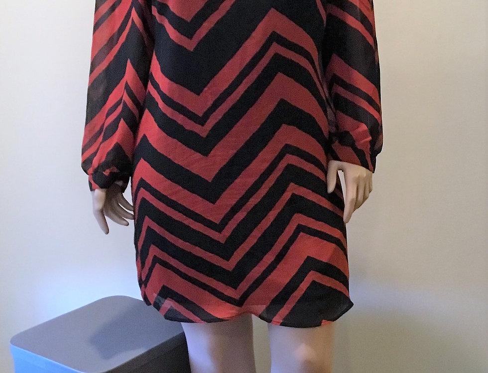 Cocomo Woman Orange and Black Dress