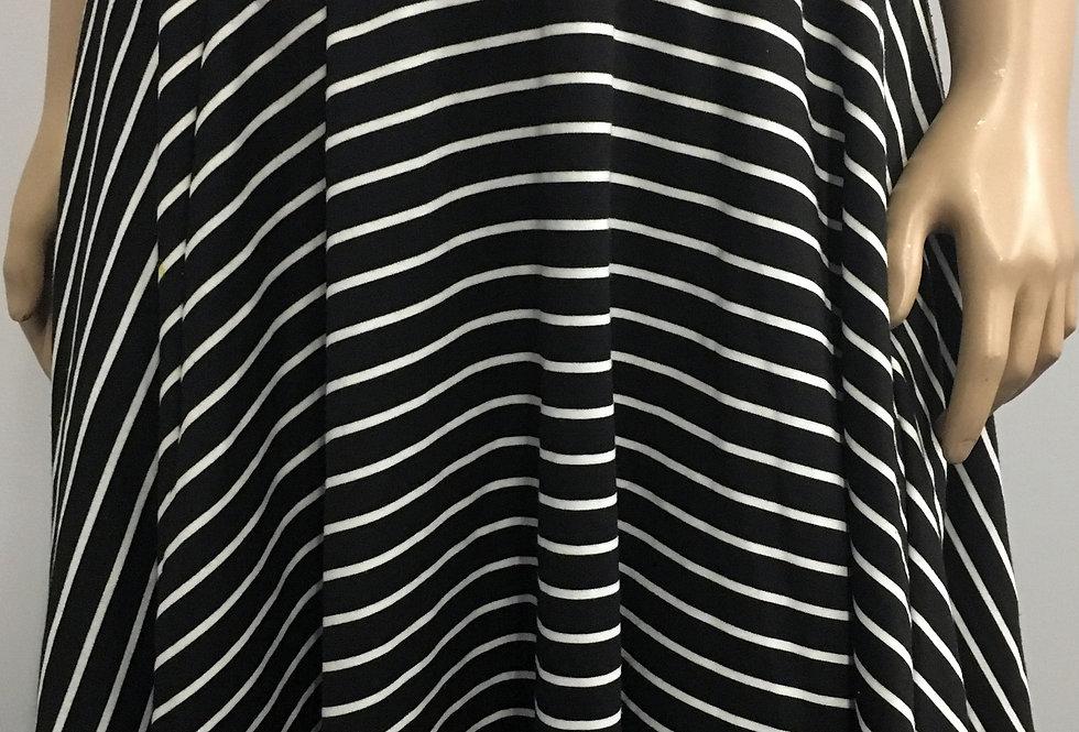 Torrid Black and White Striped Skirt