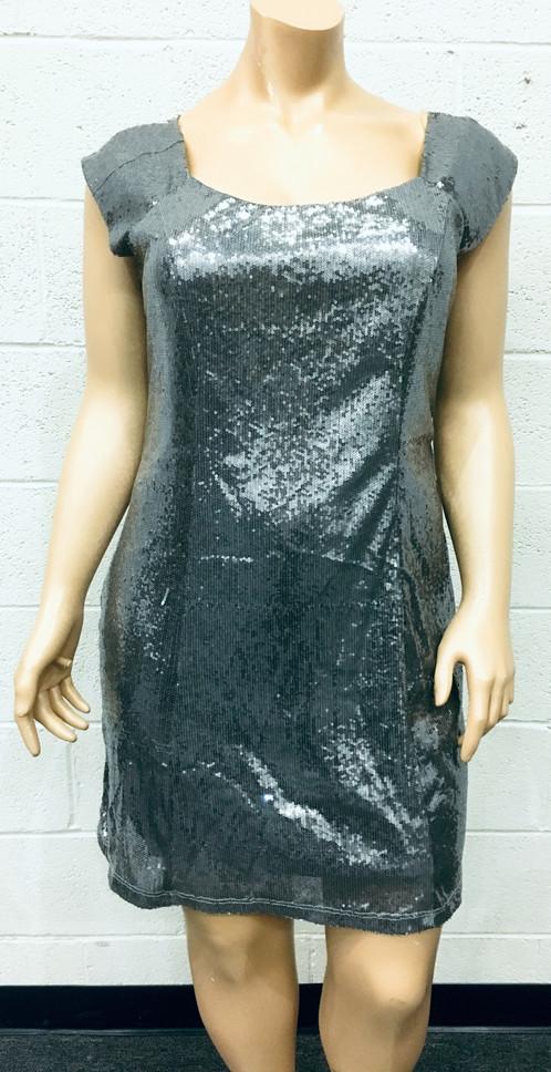 Ashley Stewart Sequence Silver Dress