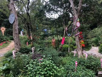 六甲ミーツアート芸術散歩2019 六甲オルゴールミュージアム中庭にて展示中です!