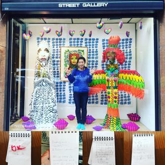3/26 Street gallery にて、秦まりのXOXO展 終了しました✨