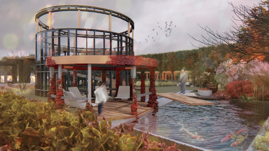 Трехэтажный выставочный центр современного искусства им. В.Кандинского со смотровой площадкой на крыше