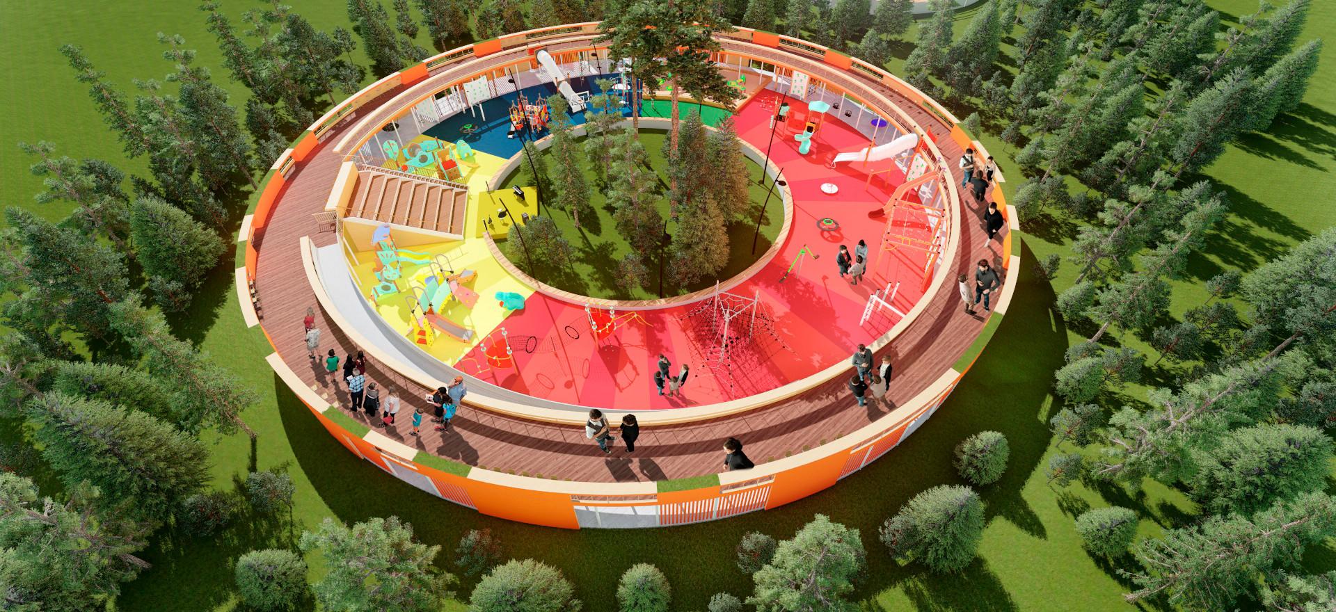 Уникальный развлекательный объект в парке