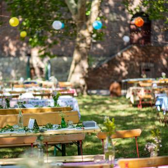 Hochzeitsessen auf der Platanenwiese