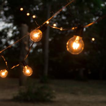 Lichterketten im Park