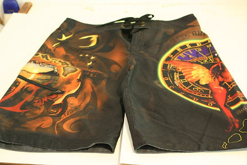 Black Maui Time Board Shorts