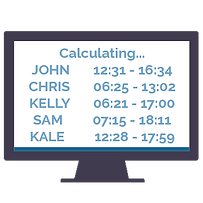 simple clocking system calculate