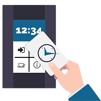 simple clocking system collect
