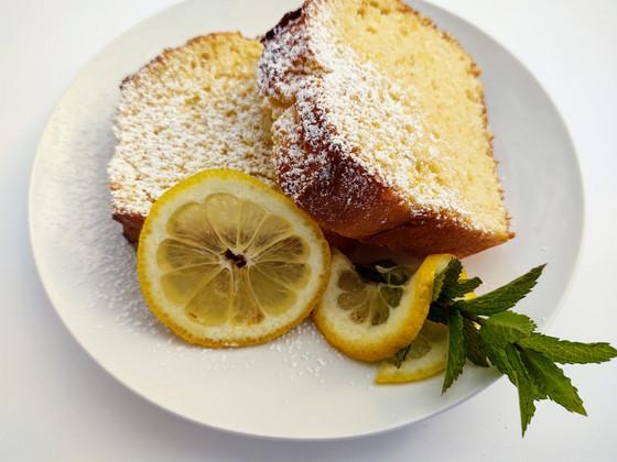 Lemon Cream Pound Cake