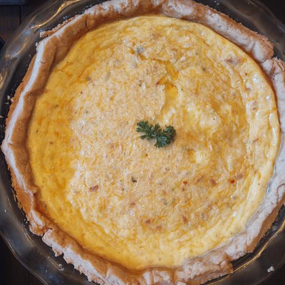 Herb Crust Cheesy Quiche