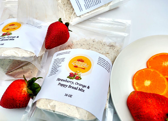 Strawberry, Orange and Poppy Bread