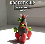 Rocket Ship With Cacti