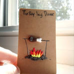 Turkey Leg Dinner ~ Crusaders Card