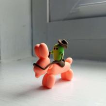 Howdy Cactus Riding Balloon Dog