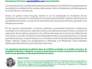 La Dra Jenifer Alfaro será moderadora en el evento de LIDECO sobre Arbitraje y propiedad intelectual