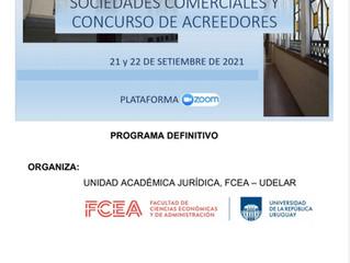 Seminario internacional Sociedades y Concurso de Acreedores, Facultad de Ciencias Económicas, UdelaR