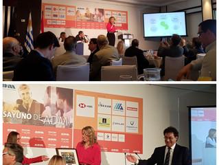Desayuno de ADM con exposición de la Ministra de Industria de Paraguay, Lic. Liz Cramer. Alphabeto U