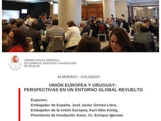 Almuerzo Coloquio Unión Europea - Uruguay: perspectivas en un entorno global revuelto. ALPHABETO Uru