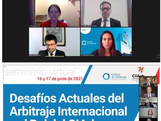 Webinar del Chartered Institute of Arbitrators y la Cámara de Comercio de Lima. Expone la Dra Alfaro