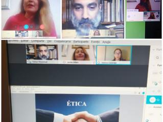 Nuestra socia la Dra Esc Jenifer Alfaro Borges expone sobre La ética en la profesión de Mediador y Á