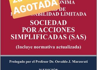 Se agotó la segunda edición del libro de sobre SA, SRL y SAS, de las Dra Rosa Poziomek y Jenifer Alf