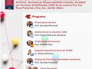 Evento lanzamiento del libro de nuestras socias, las Dras Escs. Rosa Poziomek y Jenifer Alfaro