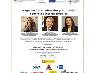 Negocios interculturales y Arbitraje, en la Cámara española de Comercio de Uruguay, organizado con R