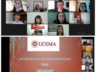 La Dra Alfaro se incorpora como docente de UCEMA, Argentina. Clase sobre Sociedades comerciales.