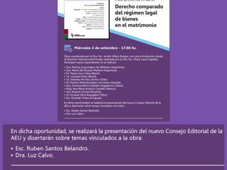 Lanzamiento del Libro coordinado por la Dra Jenifer Alfaro, Derecho comparado del Régimen legal de b