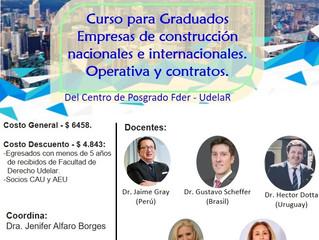 """Edición 2021 del posgrado """"Empresas de construcción nacionales e internacionales""""(UdelaR)"""