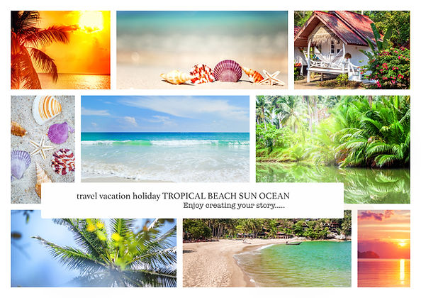 Collage of summer beach images - nature
