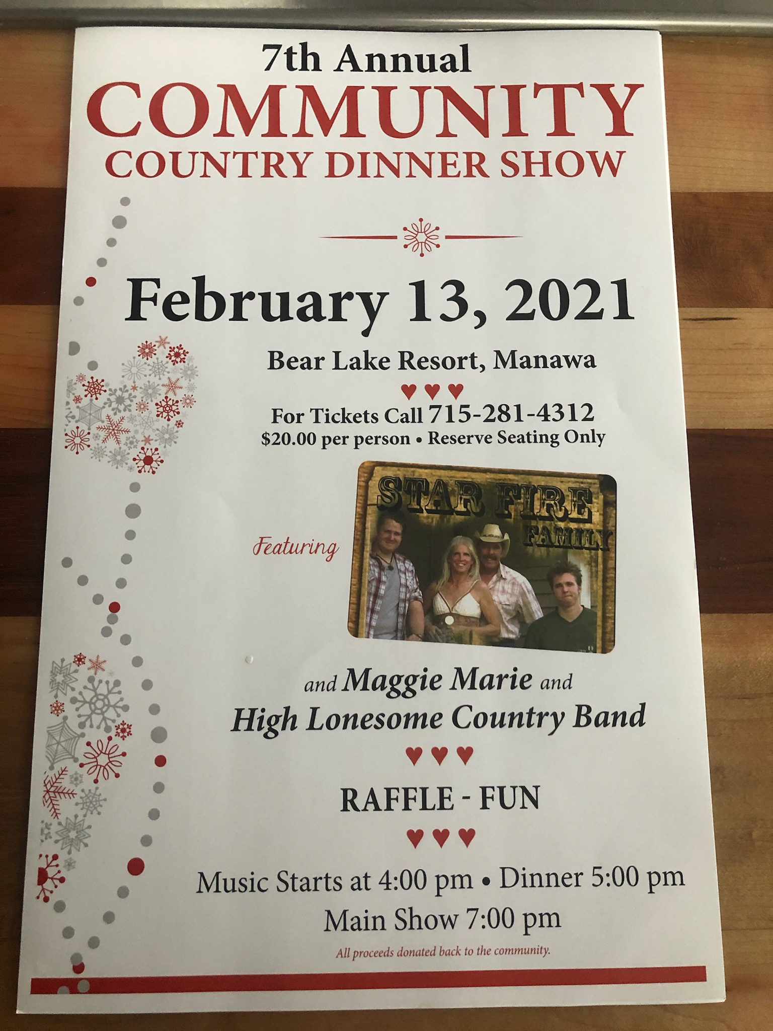 7th Annual Country Dinner Show - February 13th, 2021