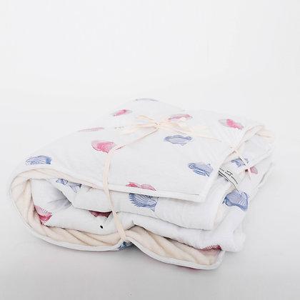 Cobertor Peces y Caracoles