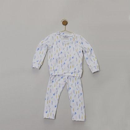 Pijama 2 Piezas Plumas