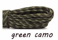 Paracord - cadarço velame - verde camuflado 10mts