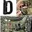 "Thumbnail: Mosquetão EDC modular ""D"" tipo gancho - verde"