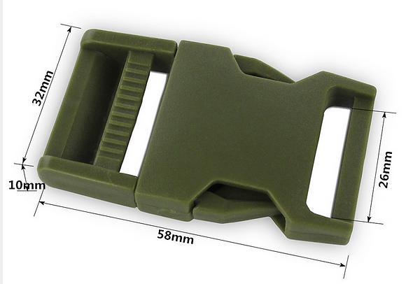 Fivela TIC-TAC - 25mm - tática verde oliva