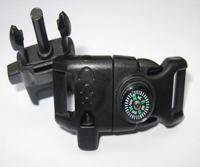 Fivela bracelete - TIC TAC - preto