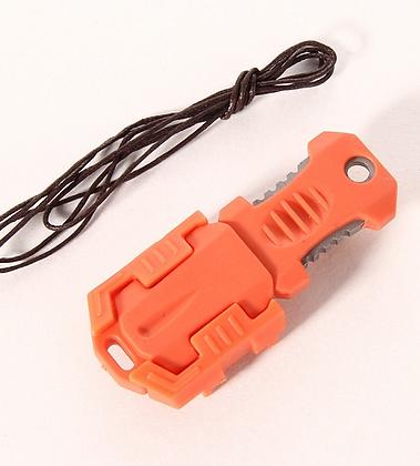 Faca pescoço mini - modular - tática laranja