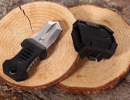 Faca pescoço mini - modular - tática preta