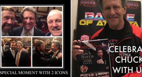 CHUCK NORRIS GIVING BACK FOR A LIFETIME EDITION  OF THE MARTIAL ARTS MASTERS & PIONEERS BOOK