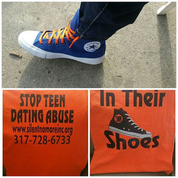 Rock your _converse while screaming a message for our youth! #SilentNoMore #beaVoice #beHeard #beSil