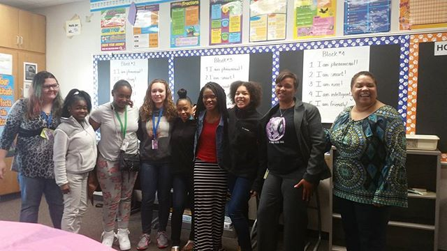 Chapel Hill Middle School Gals Club learning on the dynamics of abuse in the home! #BenDavis #Chapel