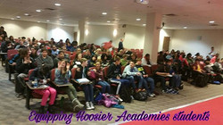 Domestic violence awareness with student at Hoosier Academy Network Of Schools in Indianapolis